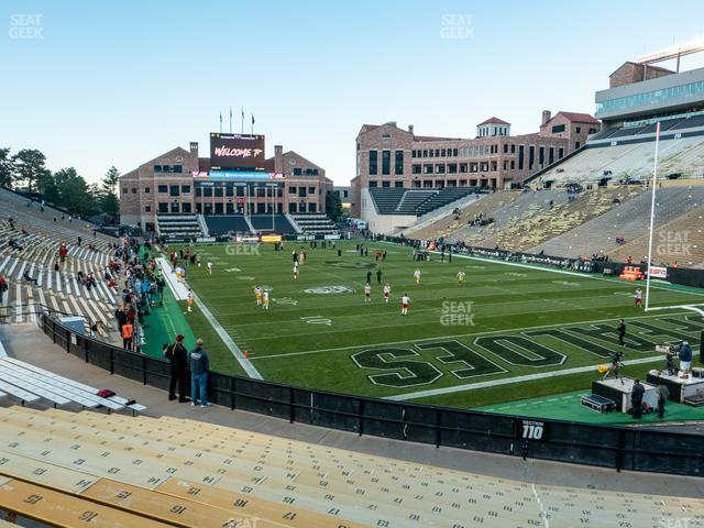 Folsom Field Section 110 view