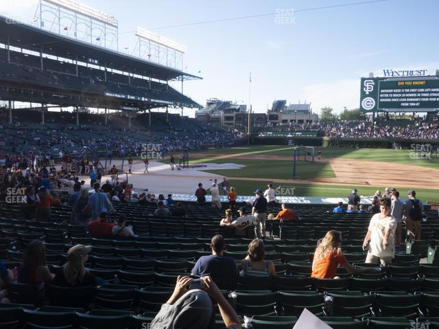 Wrigley Field Section 124 view