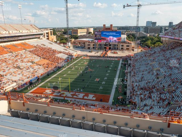 Darrell K Royal - Texas Memorial Stadium Section 114 view