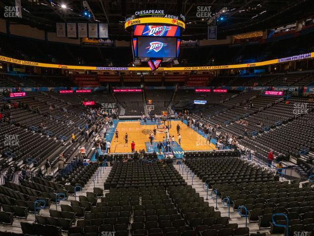 Chesapeake Energy Arena Lower Terrace 216 view