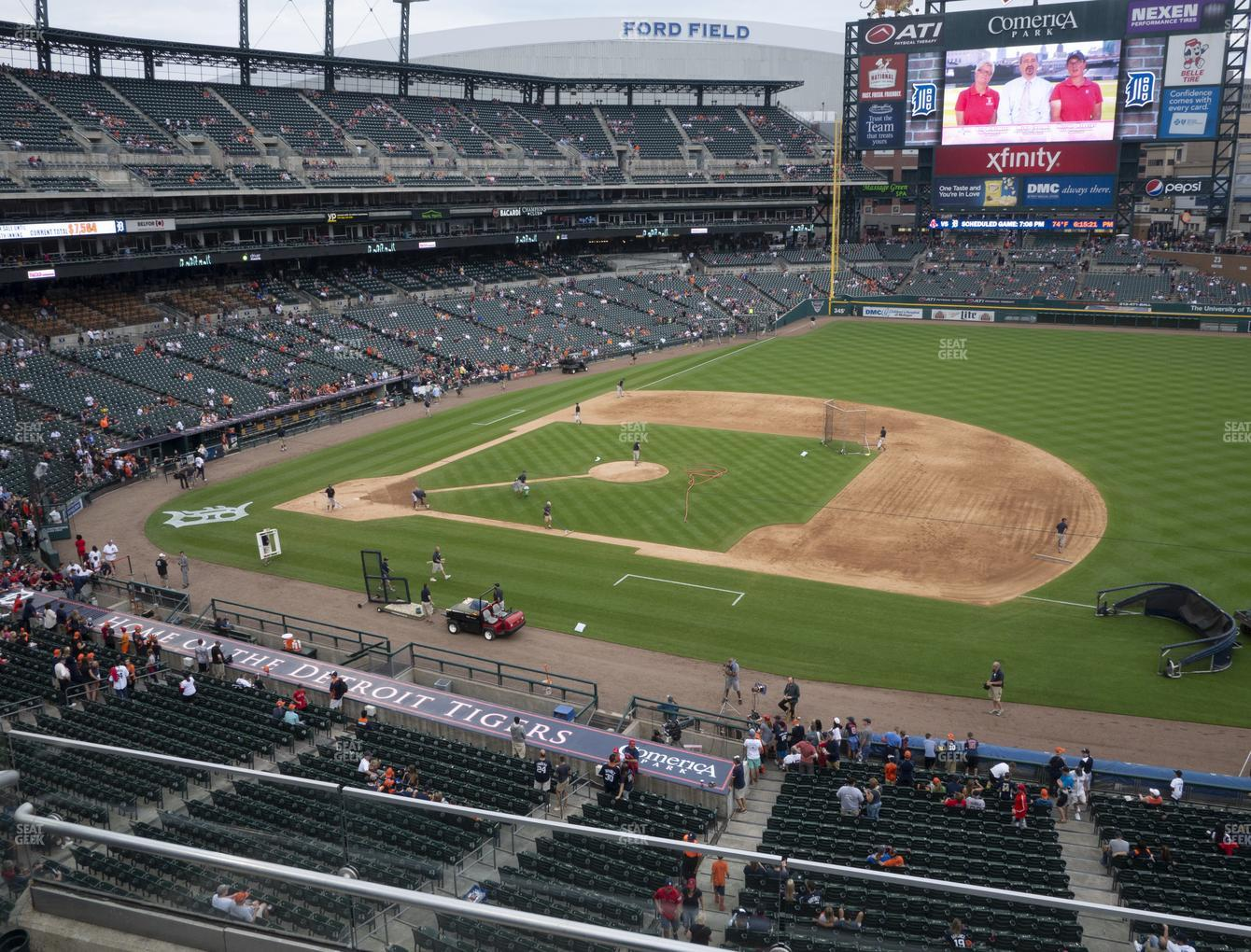 Detroit Tigers at Comerica Park Section 219 View