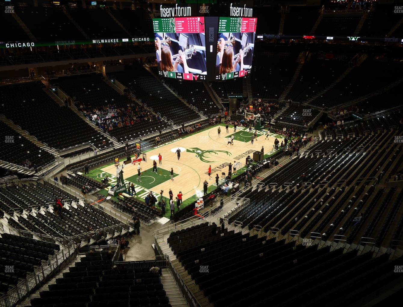 Milwaukee Bucks at Fiserv Forum Section 226 View
