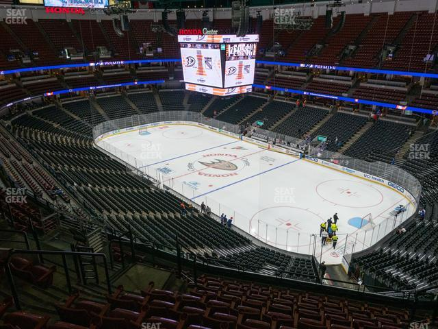 Honda Center Section 428 view