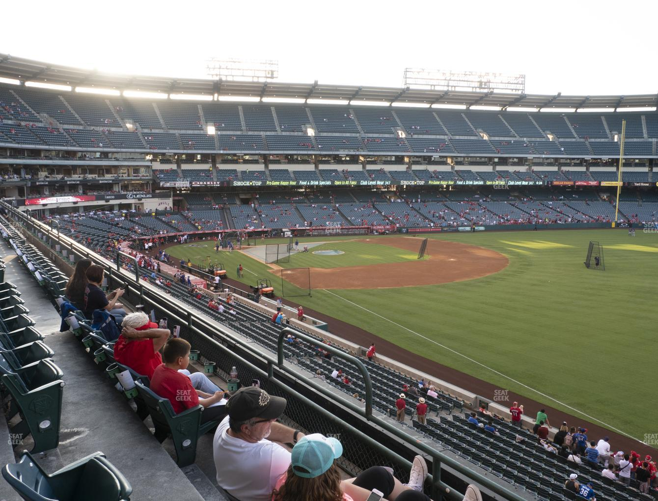 Los Angeles Angels at Angel Stadium of Anaheim Section 345 View