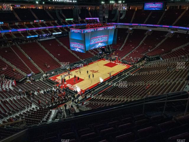 Toyota Center Section 414 view