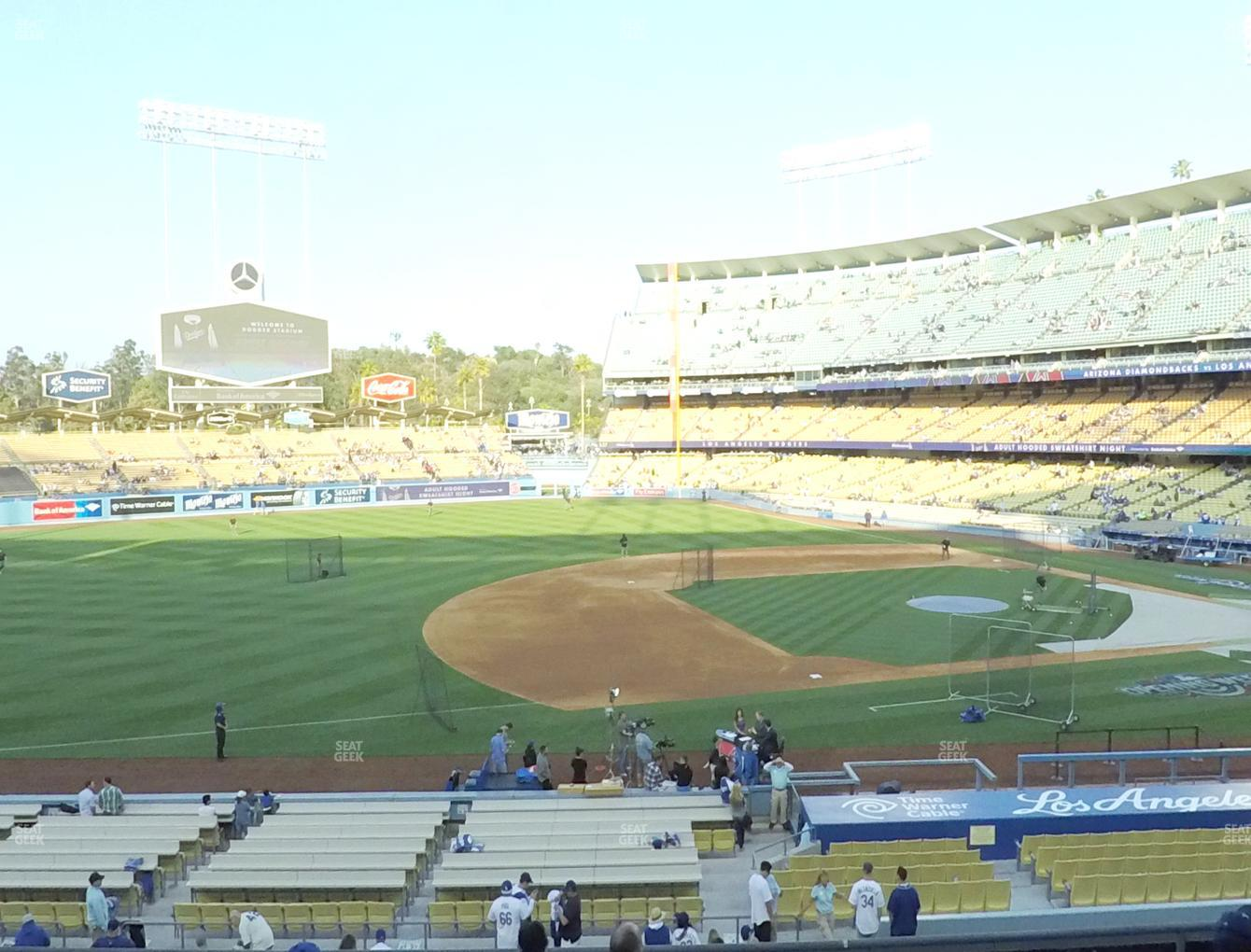 Los Angeles Dodgers at Dodger Stadium Loge Box 139 View