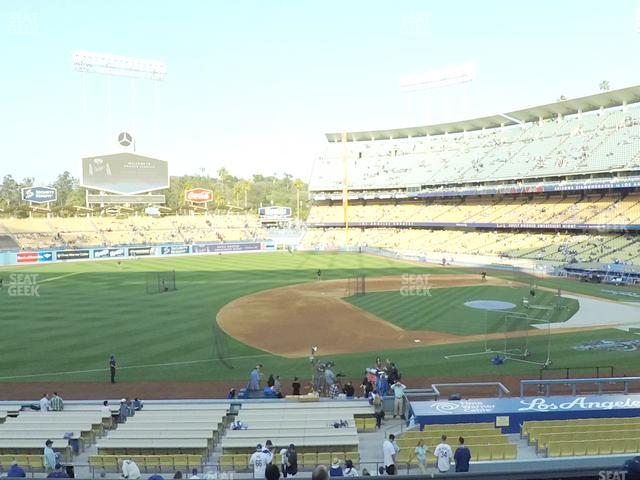 Dodger Stadium Loge Box 139 view