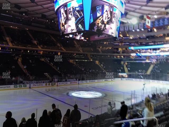 Madison Square Garden Section 115 view
