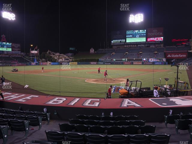Angel Stadium of Anaheim Section 117 view