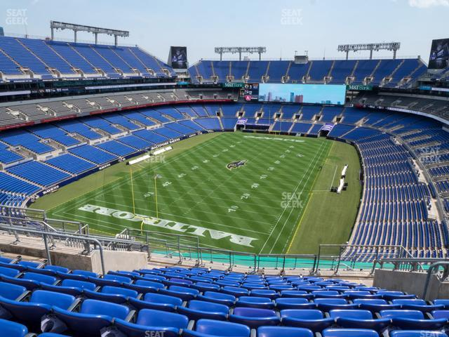 M&T Bank Stadium Section 537 view