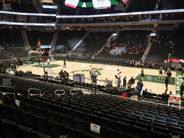 Fiserv Forum Section 116 view