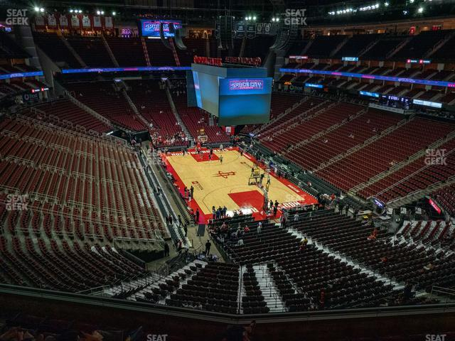 Toyota Center Section 403 view