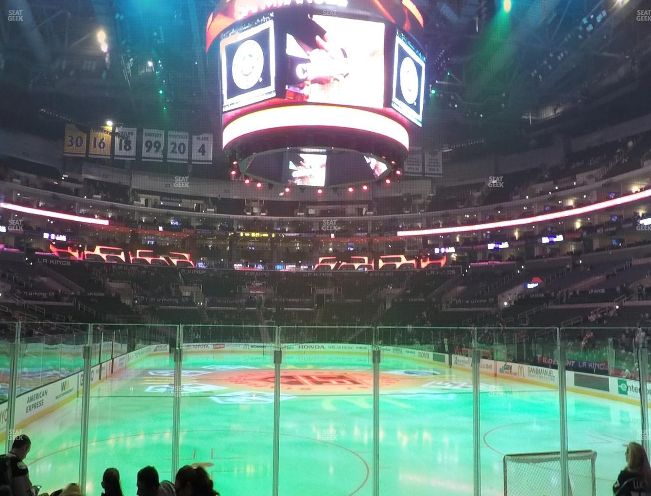 Los Angeles Kings at Staples Center Section 107 View