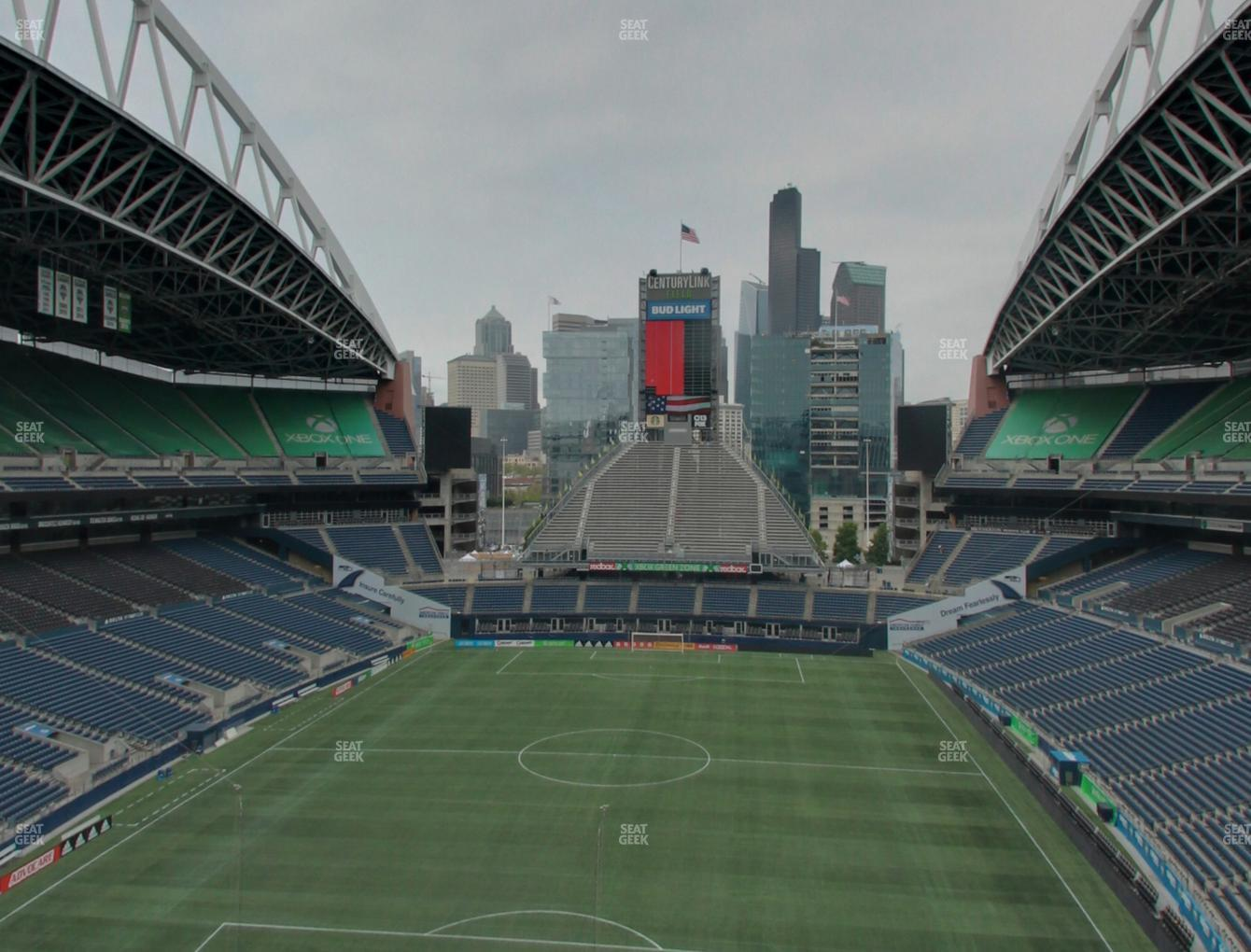 Seattle Sounders FC at CenturyLink Field Lower 321 View