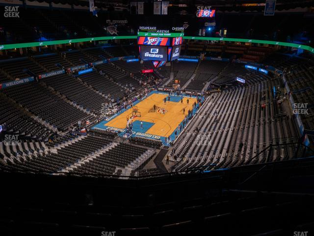 Chesapeake Energy Arena Section 314 view