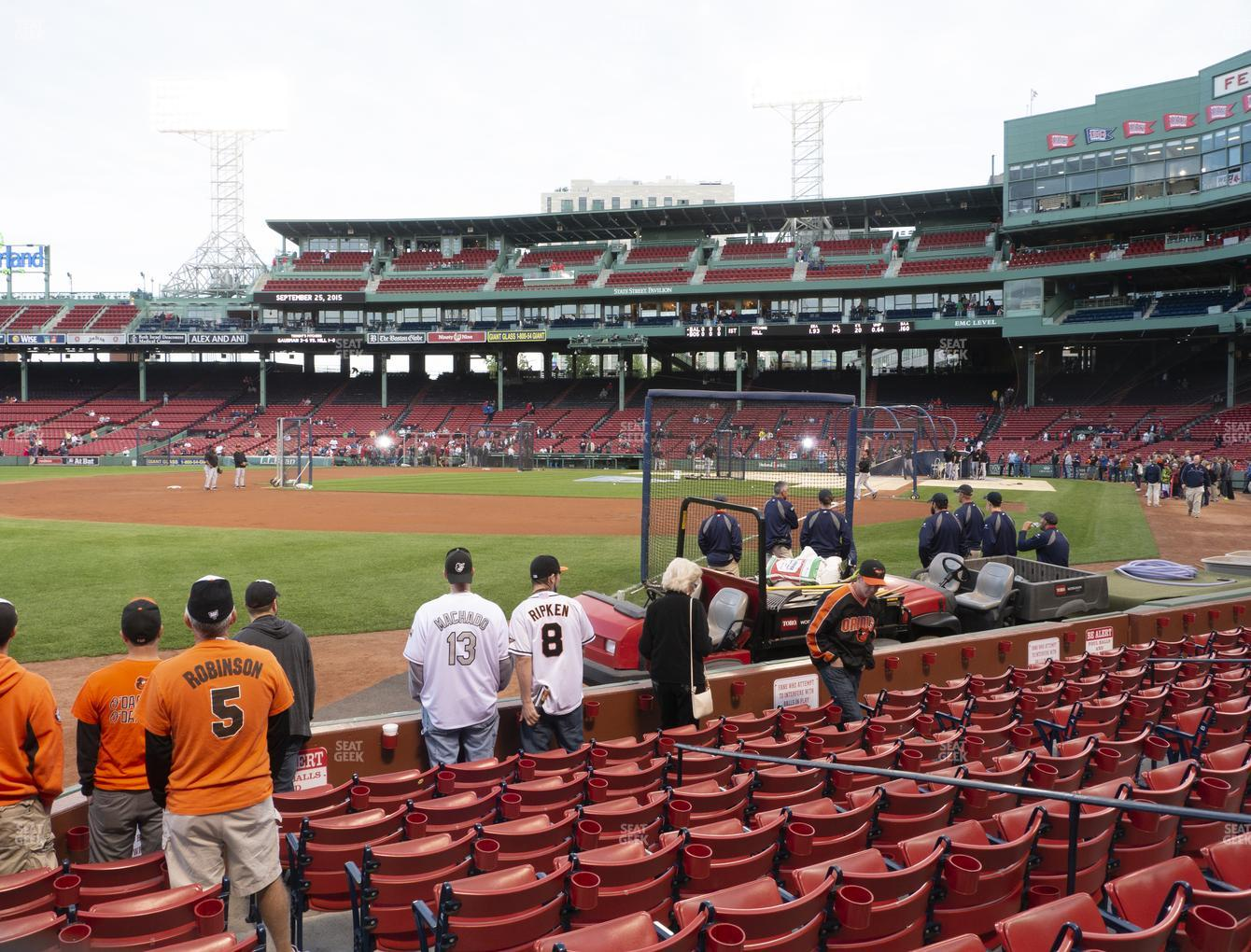 Boston Red Sox at Fenway Park Field Box 80 View