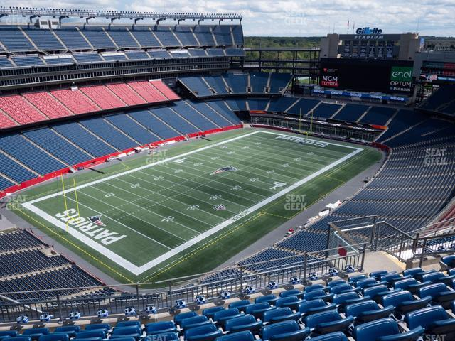 Gillette Stadium Section 339 view