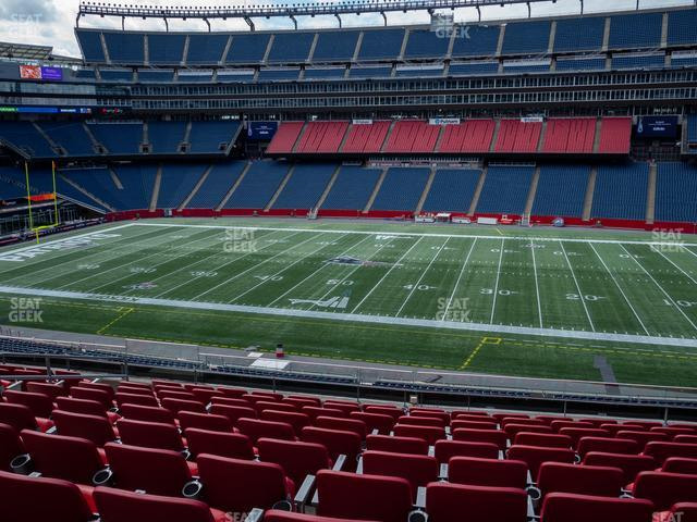 Gillette Stadium Section Club 8 view