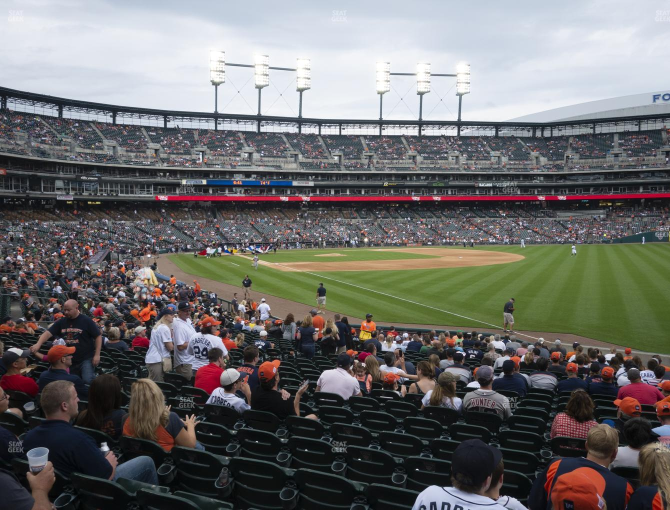 Detroit Tigers at Comerica Park Section 114 View