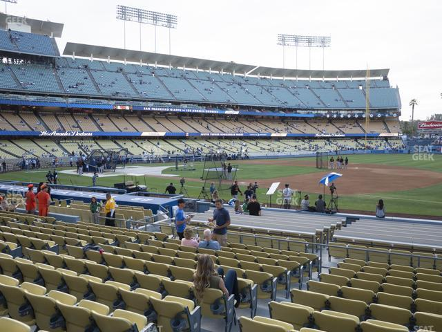 Dodger Stadium Field Box 30 view