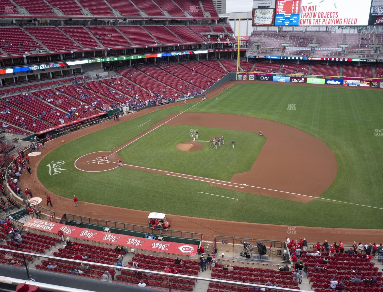 Cincinnati Reds at Great American Ball Park Section 431 View