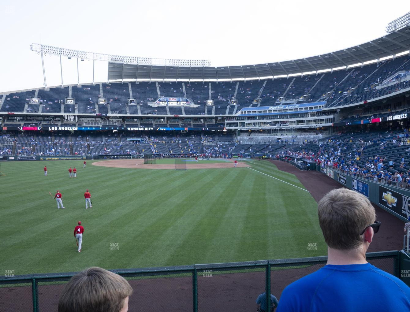 Kansas City Royals at Kauffman Stadium Section 105 View