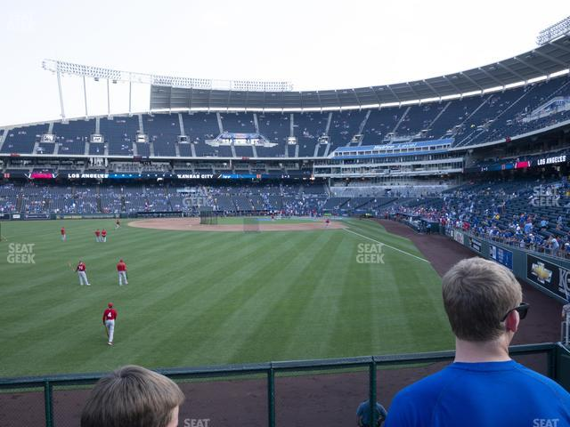 Kauffman Stadium Section 105 view