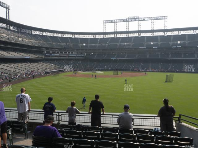 Coors Field Section 105 view