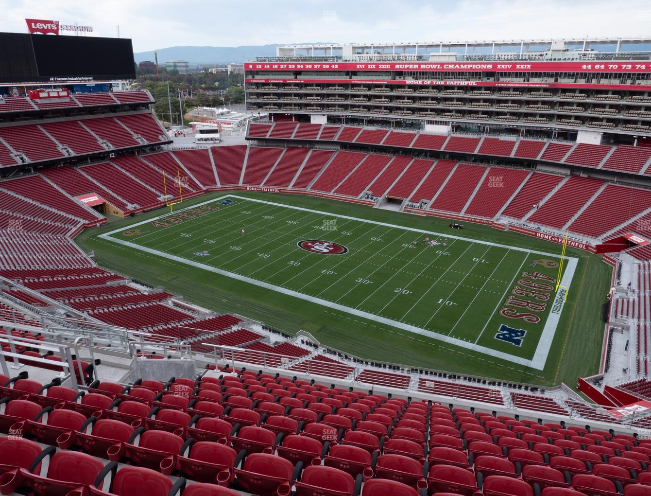 San Francisco 49ers at Levi's Stadium Section 407 View