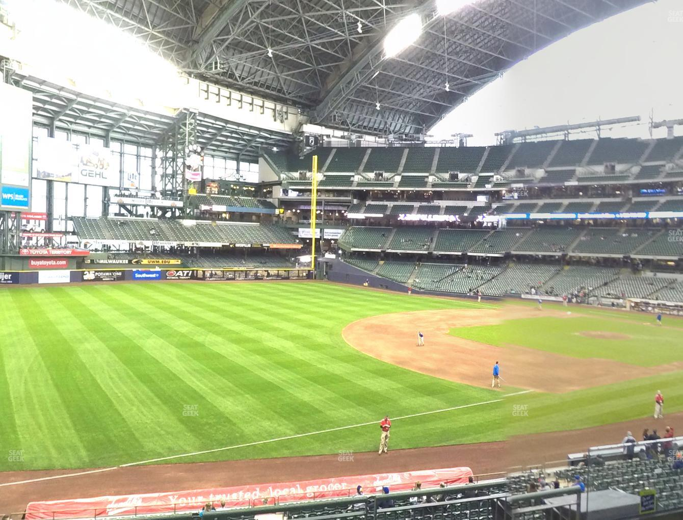 Milwaukee Brewers at Miller Park Section 229 View