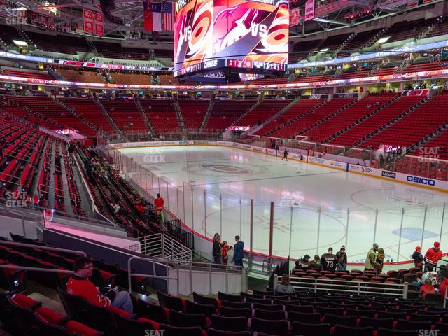 PNC Arena Section 114 view