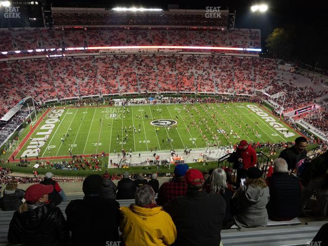 Sanford Stadium Section 608 view