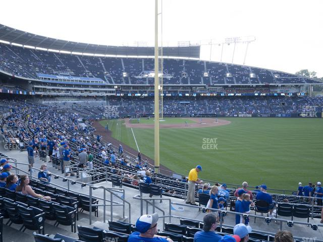 Kauffman Stadium Section 249 view