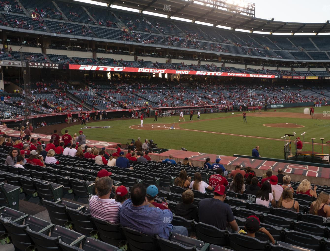 Los Angeles Angels at Angel Stadium of Anaheim Section 124 View