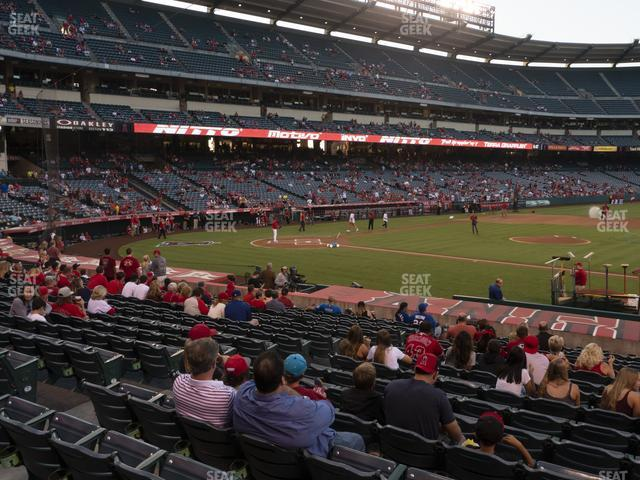Angel Stadium of Anaheim Section 124 view