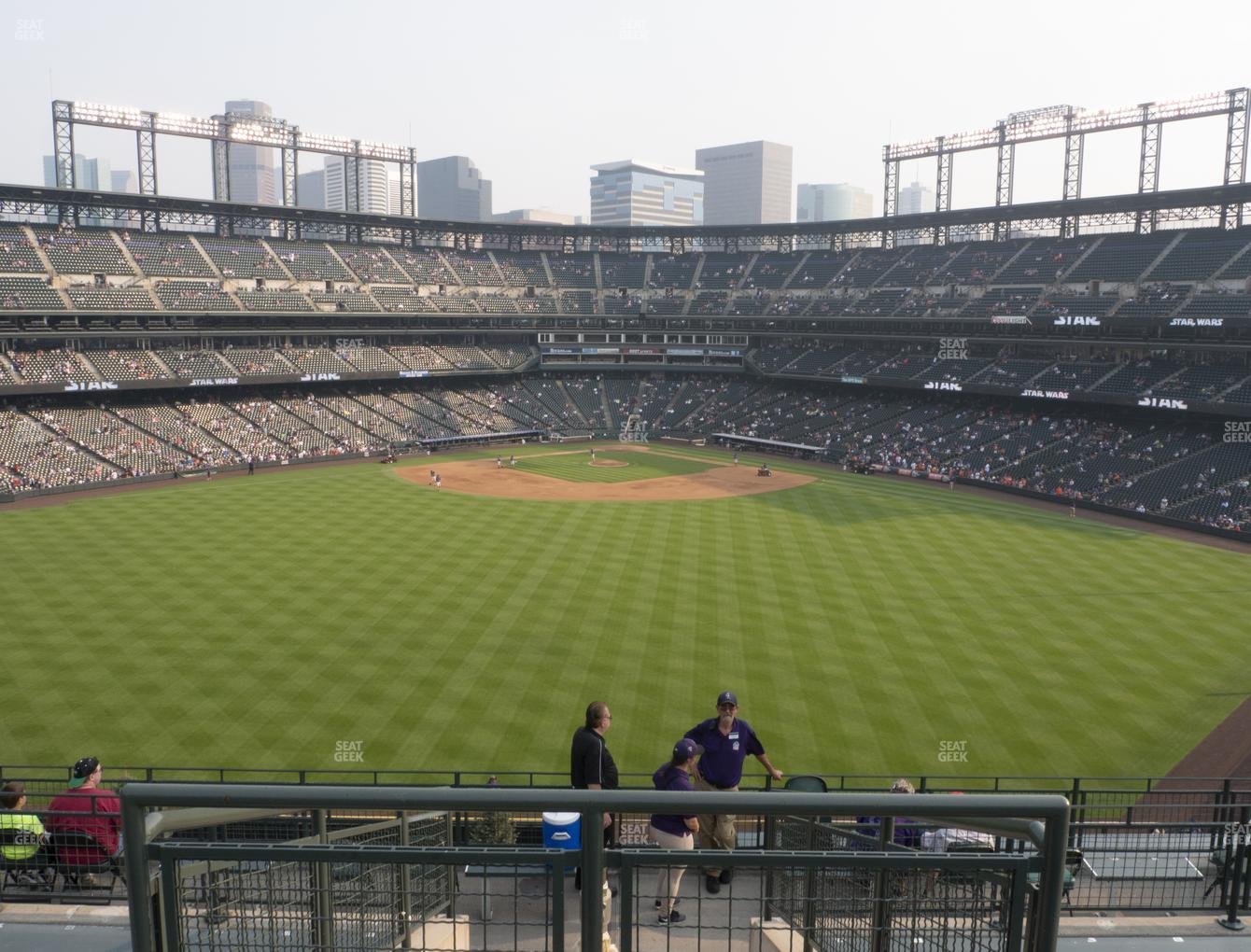 Colorado Rockies at Coors Field Section 403 View