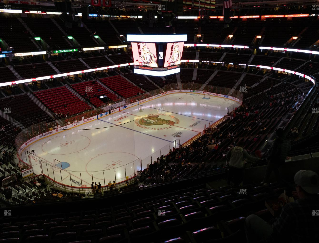 Ottawa Senators at Canadian Tire Centre Section 312 View