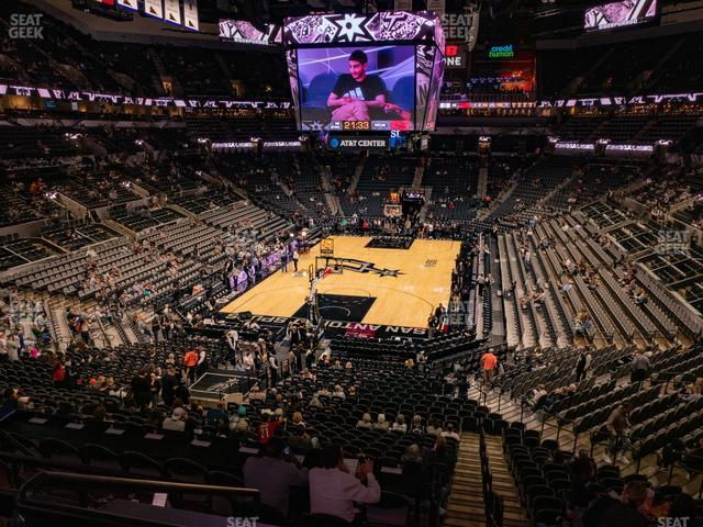 AT&T Center Section 128 view