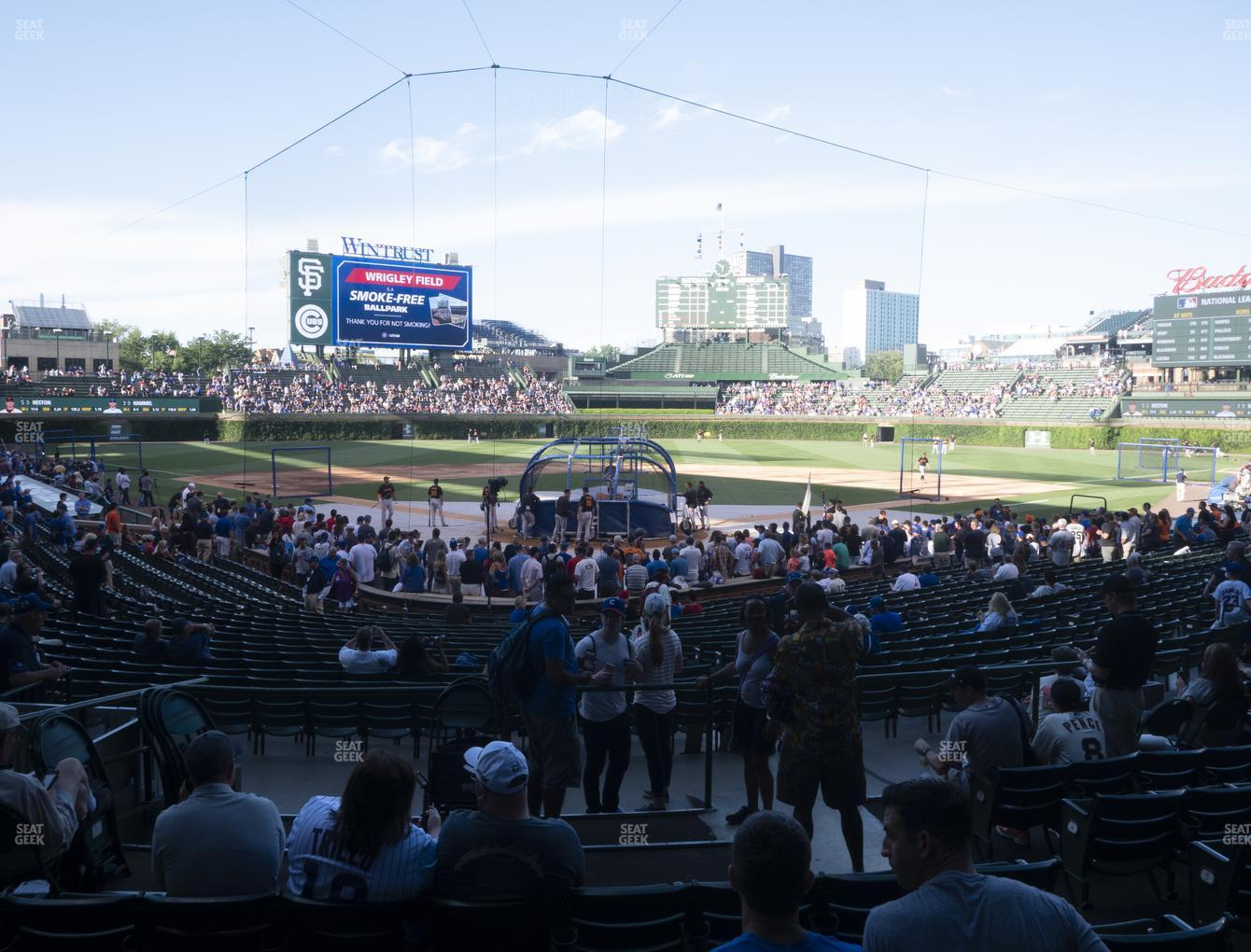 Chicago Cubs at Wrigley Field Section 119 View