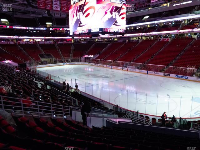 PNC Arena Section 130 view