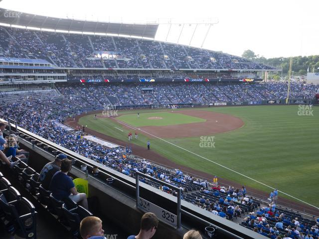 Kauffman Stadium Section 325 view
