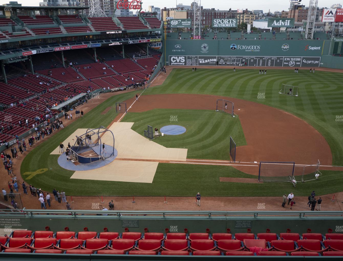 Boston Red Sox at Fenway Park Pavilion Box 5 View