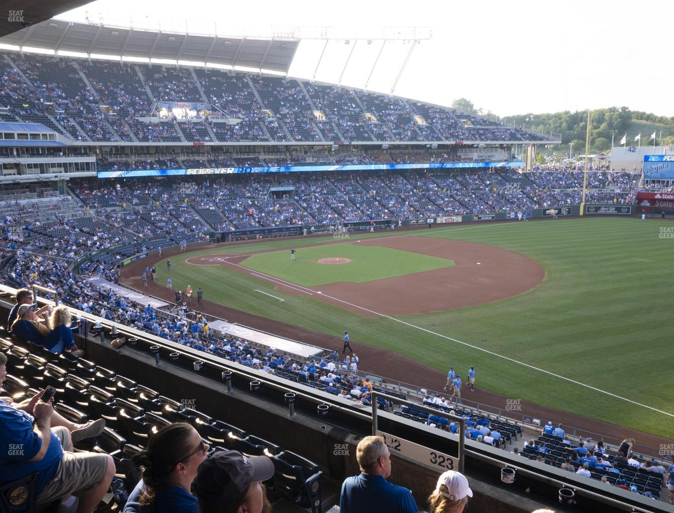 Kansas City Royals at Kauffman Stadium Section 323 View