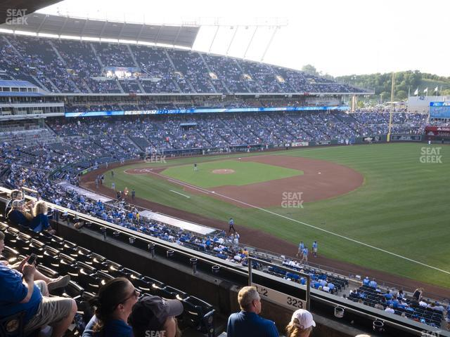 Kauffman Stadium Section 323 view