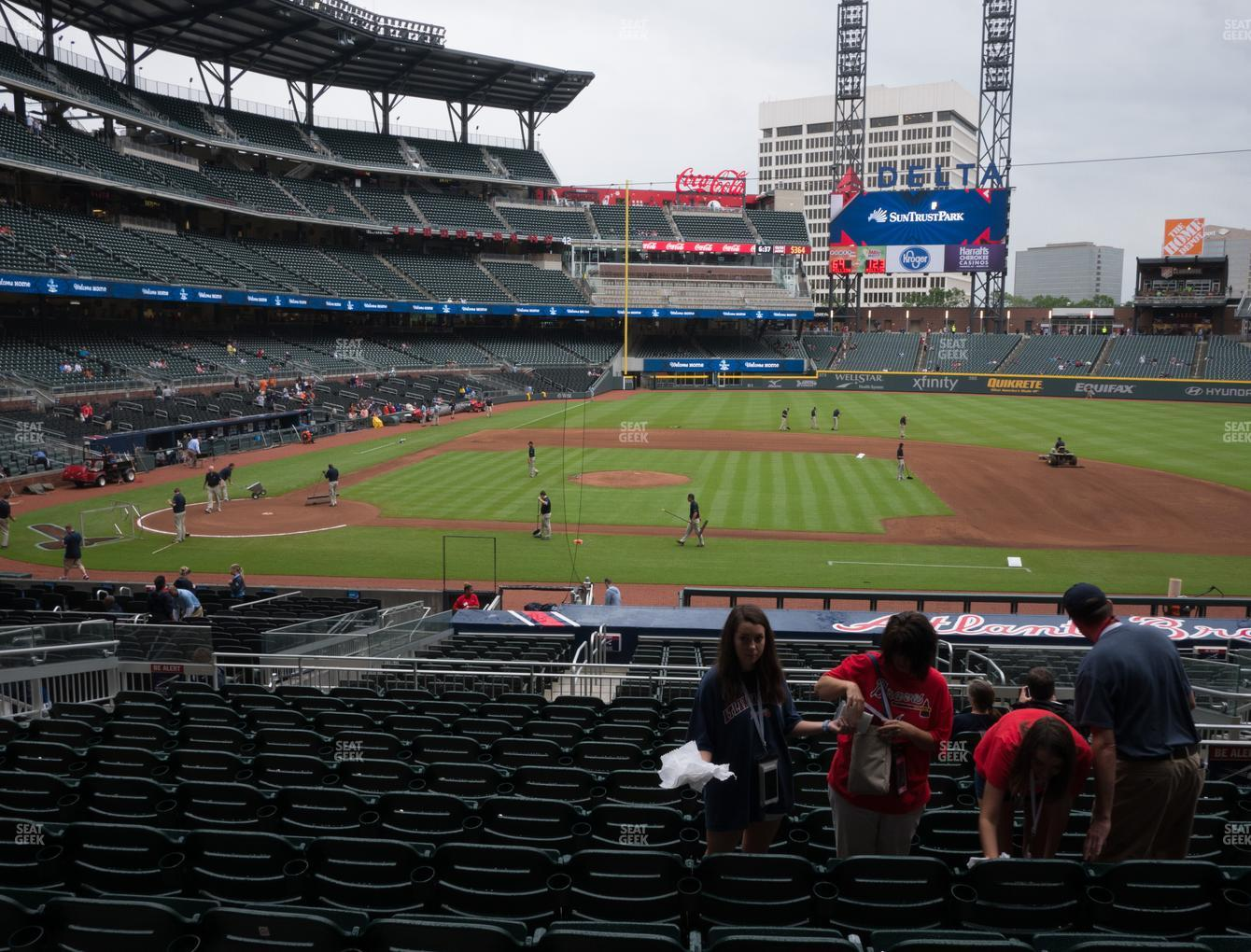 Atlanta Braves at SunTrust Park Section 120 View