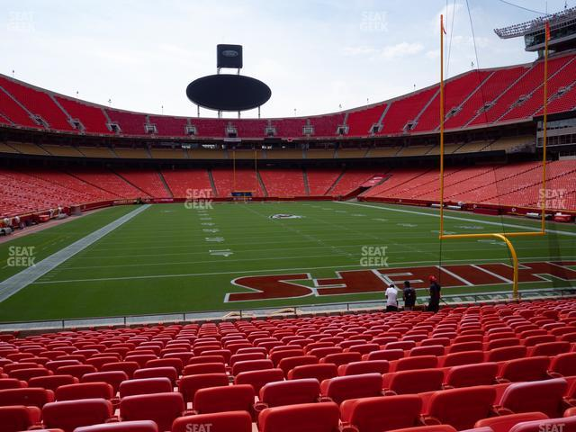 Arrowhead Stadium Section 129 view