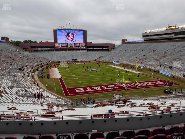 Doak Campbell Stadium Section Club 225 view