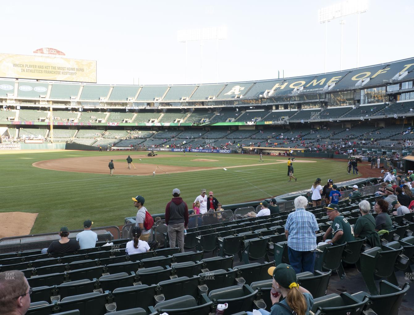 Oakland Athletics at RingCentral Coliseum Section 126 View