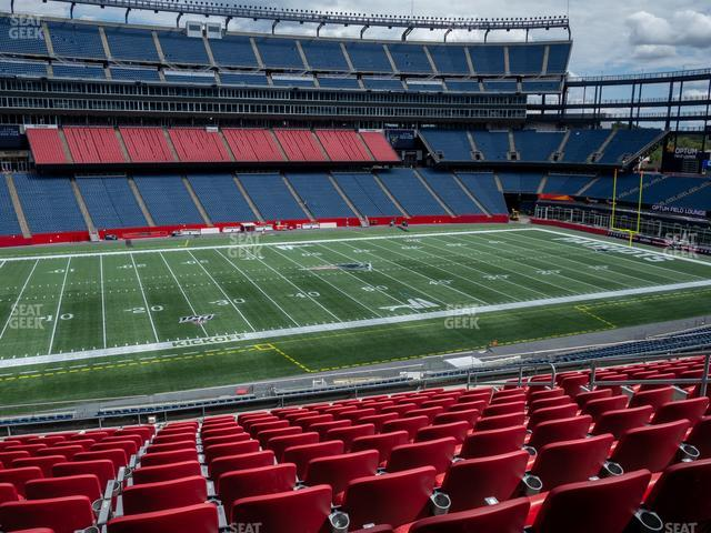 Gillette Stadium Section Club 34 view