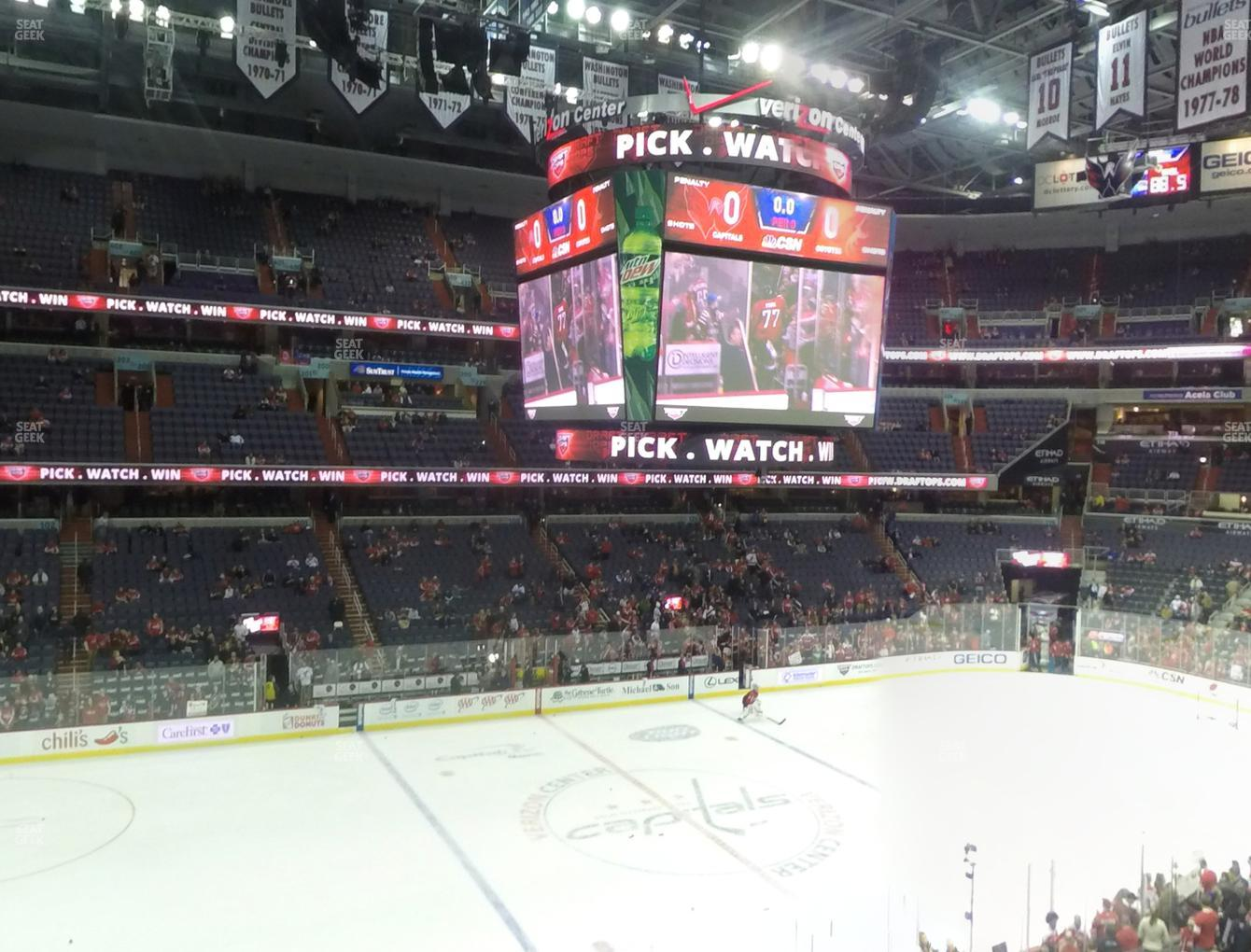 Washington Capitals at Capital One Arena Section 213 View
